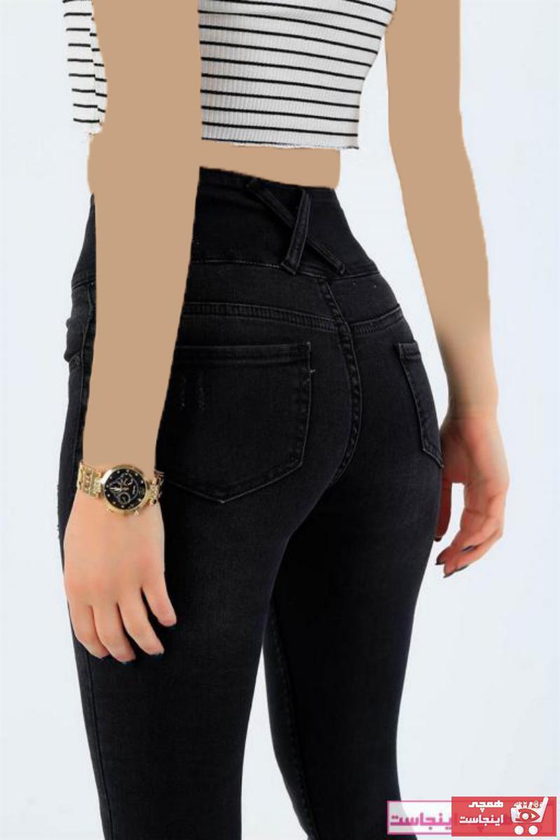 شلوار زنانه نخی برند JANES رنگ مشکی کد ty75706571