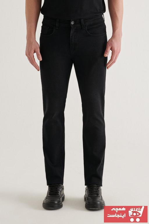 خرید شلوار جین مردانه شیک برند آوا رنگ مشکی کد ty75950668