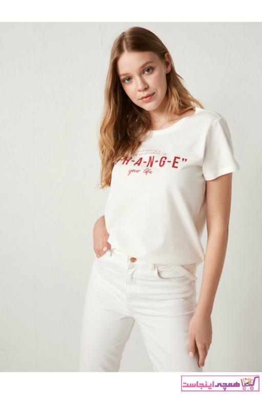 خرید تیشرت زنانه شیک مارک ال سی وایکیکی کد ty76086729