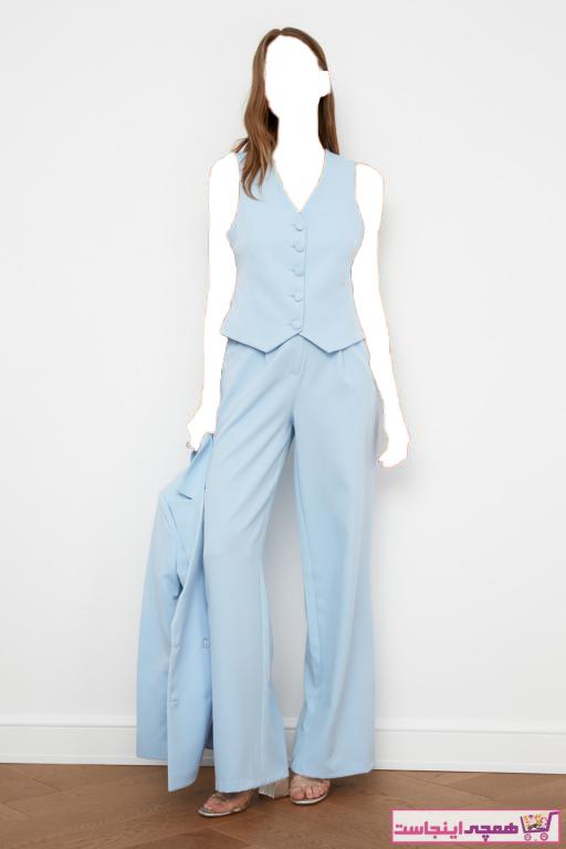 شلوار زنانه زیبا برند TRENDYOLMİLLA رنگ آبی کد ty77789015