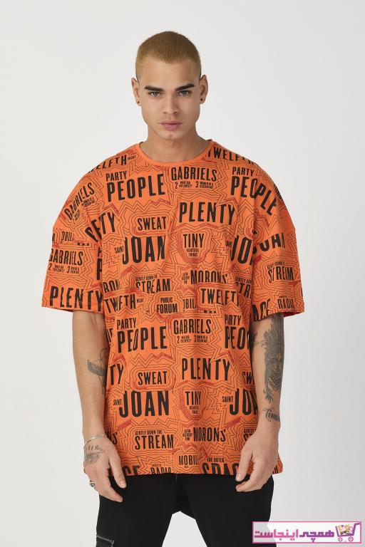 سفارش تی شرت مردانه ارزان برند MODA GROS رنگ نارنجی کد ty80811028