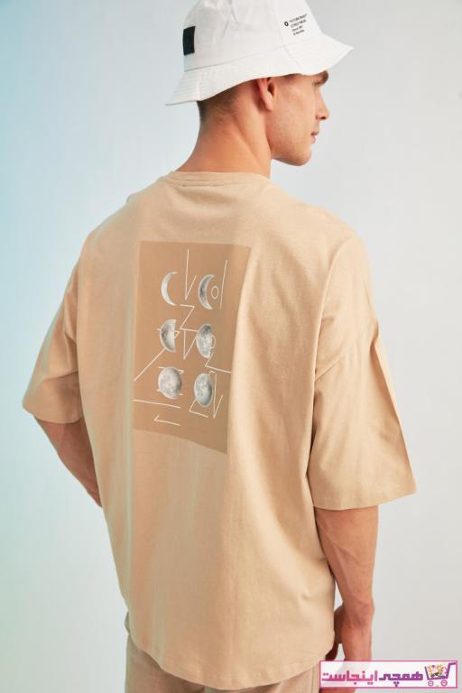 تی شرت مردانه شیک و جدید مارک ترندیول مرد رنگ بژ کد ty81685685