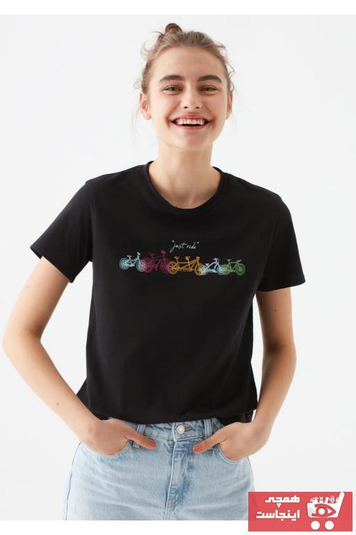 تیشرت طرح دار برند ماوی رنگ نقره ای کد ty81839543