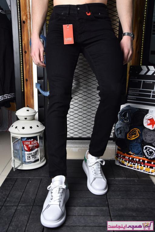 شلوار مردانه مدل دار برند Lose Jeans رنگ مشکی کد ty82924126