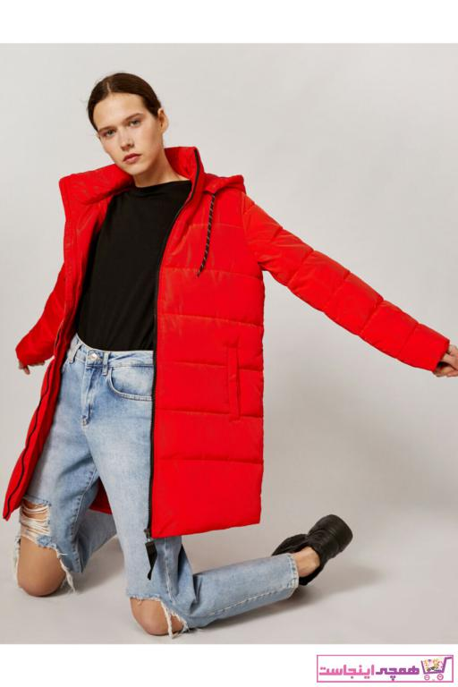 پالتو شیک زنانه برند کوتون رنگ قرمز ty83185415