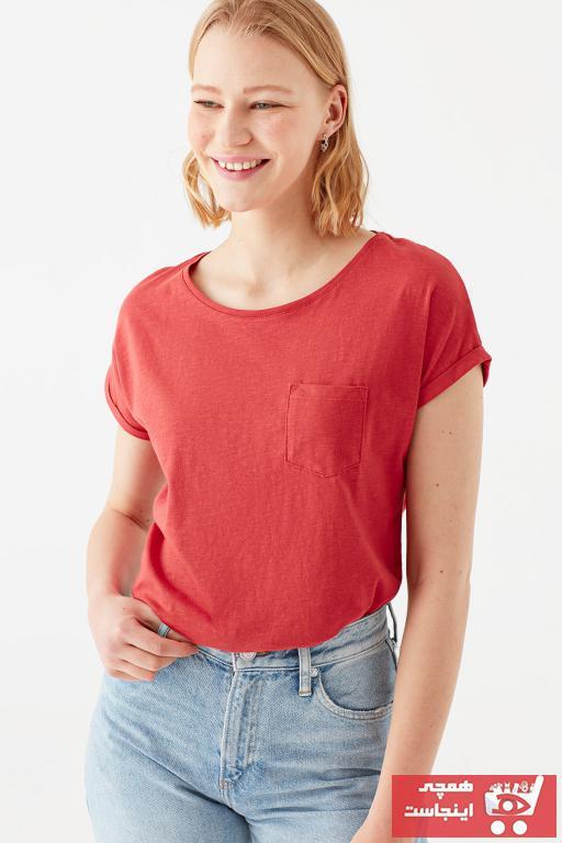 تیشرت زنانه ساده برند ماوی رنگ قرمز ty83227137