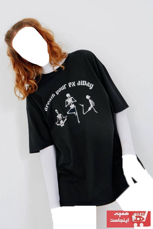 تیشرت زنانه جدید برند Addax رنگ نقره ای کد ty88830976