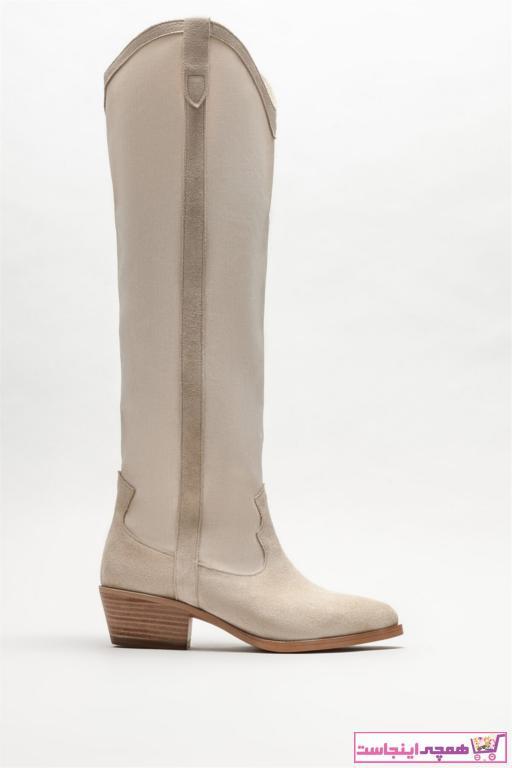 چکمه زنانه ارزان برند Elle Shoes رنگ بژ کد ty89208843