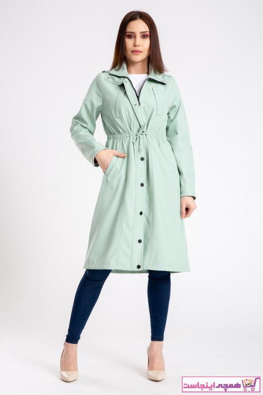 فروشگاه مانتو پاییزی اورجینال برند madame sare رنگ سبز کد ty89209842