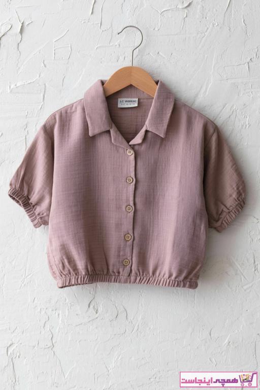 پیراهن دخترانه پارچه نخی برند ال سی وایکیکی LC Waikiki رنگ لاجوردی کد ty89696057