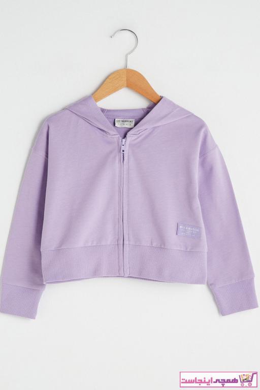 ژاکت دخترانه قیمت برند ال سی وایکیکی رنگ بنفش کد ty89696181