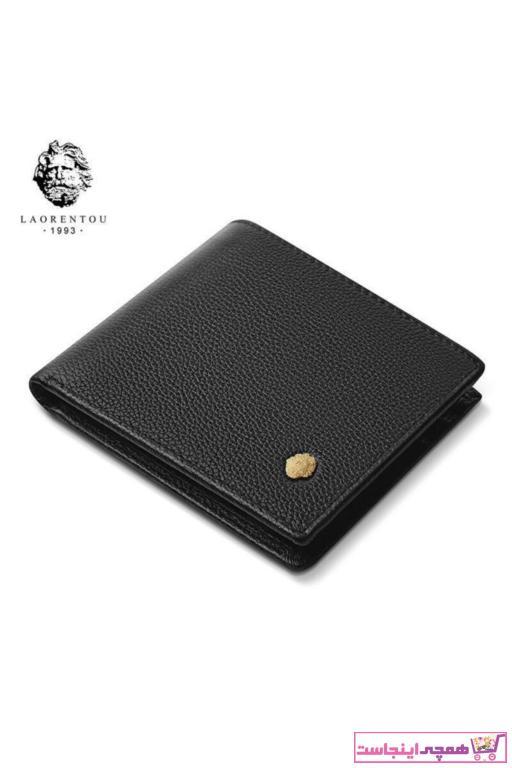 کیف پول مردانه مدل برند Laorentou رنگ مشکی کد ty91821559