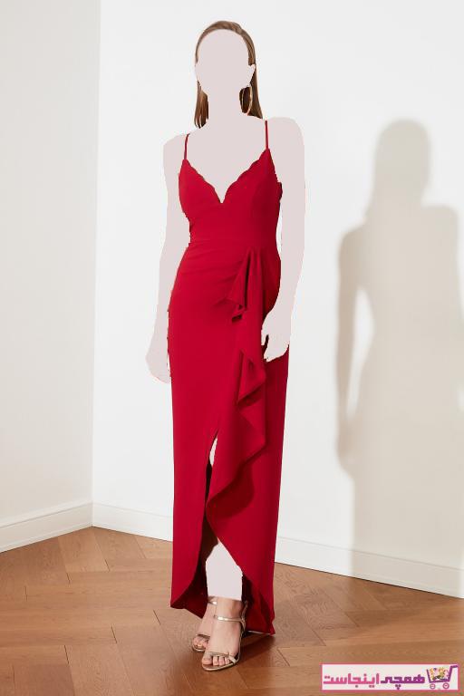 خرید اسان لباس مجلسی زنانه اسپرت جدید برند ترندیول میلا رنگ زرشکی ty92675503