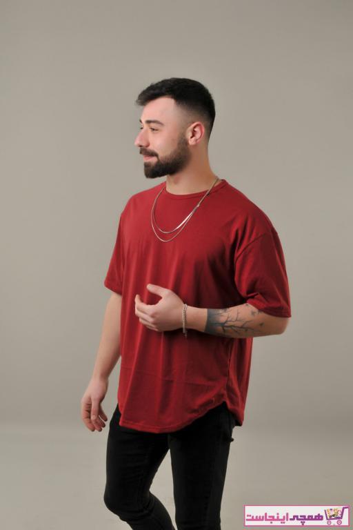 سفارش انلاین تی شرت مردانه ساده برند SKYBEAR رنگ زرشکی ty93714135