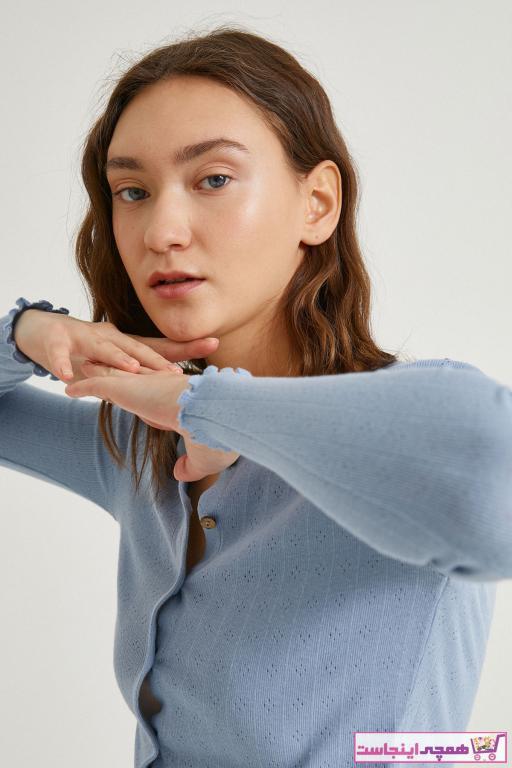 تیشرت جدید زنانه شیک برند کوتون رنگ لاجوردی کد ty94549987