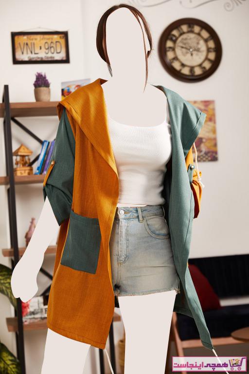 ژاکت زنانه پارچه نخی برند armonika رنگ زرد ty95269403