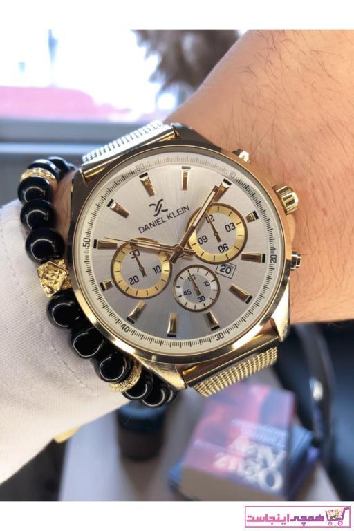 خرید ساعت مردانه ترک جدید برند Daniel Klein رنگ طلایی ty95570129