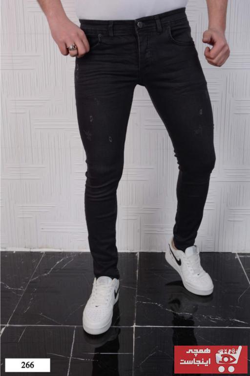 شلوار جین مردانه فانتزی برند Rich Point رنگ مشکی کد ty97021781
