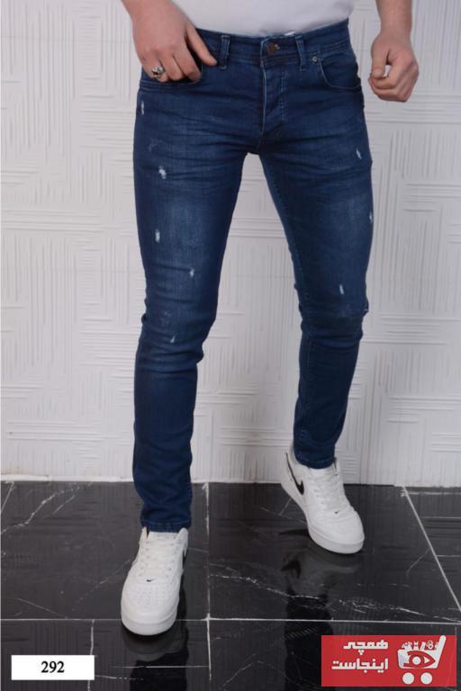 شلوار جین ارزان برند Rich Point رنگ آبی کد ty97281066