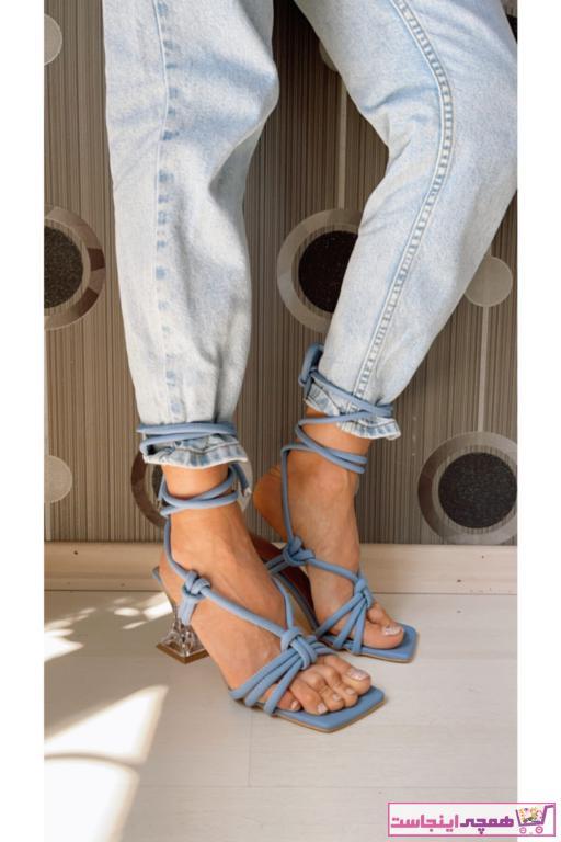فروش پستی پاشنه دار زنانه شیک جدید برند ALİANESHOES رنگ آبی کد ty98286319