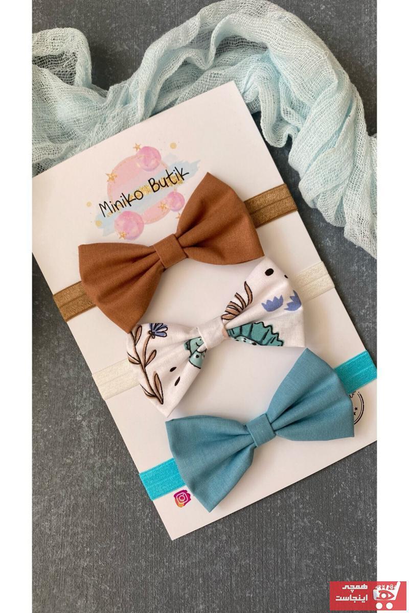 خرید پاپیون بچه گانه پسرانه ترک جدید برند Miniko Butik رنگ قهوه ای کد ty108717116