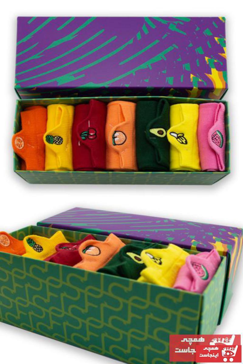 فروش انلاین جوراب مردانه ارزان برند Socksarmy رنگ نارنجی کد ty116249442