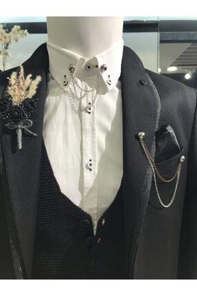 کراوات مردانه ساده شیک برند araslar رنگ نقره کد ty119859864