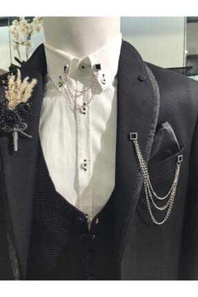 کراوات مردانه ترکیه برند araslar رنگ نقره کد ty119887999