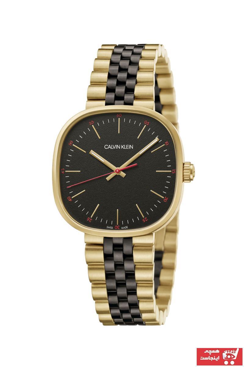 خرید انلاین ساعت زیبا مردانه برند کلوین کلین رنگ زرد ty32201571