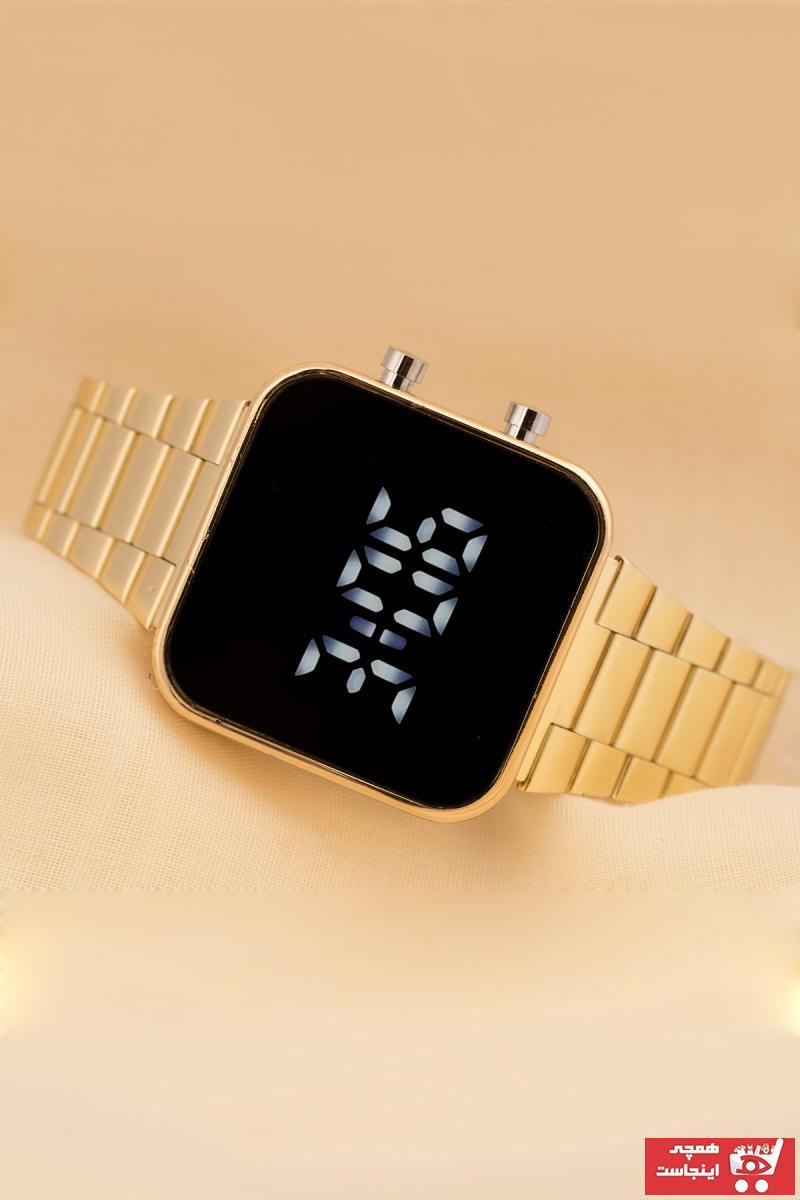 فروش ساعت جدید برند Saatick رنگ زرد ty35193485