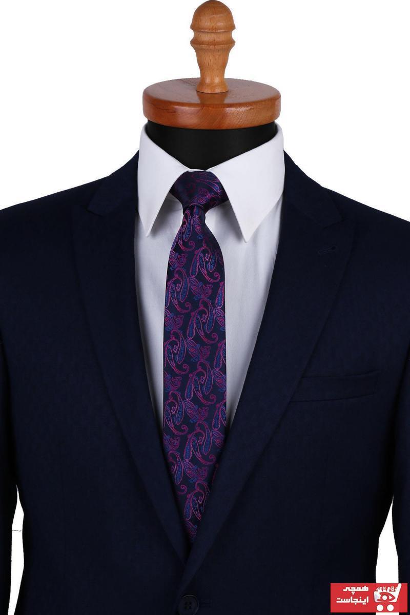 حرید اینترنتی کراوات مردانه ارزان برند Kravatkolik رنگ لاجوردی کد ty36365039