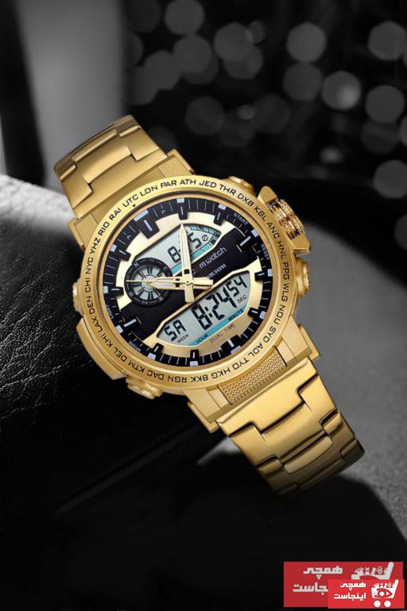 ساعت مردانه پارچه  برند Comwatch رنگ طلایی ty59293917