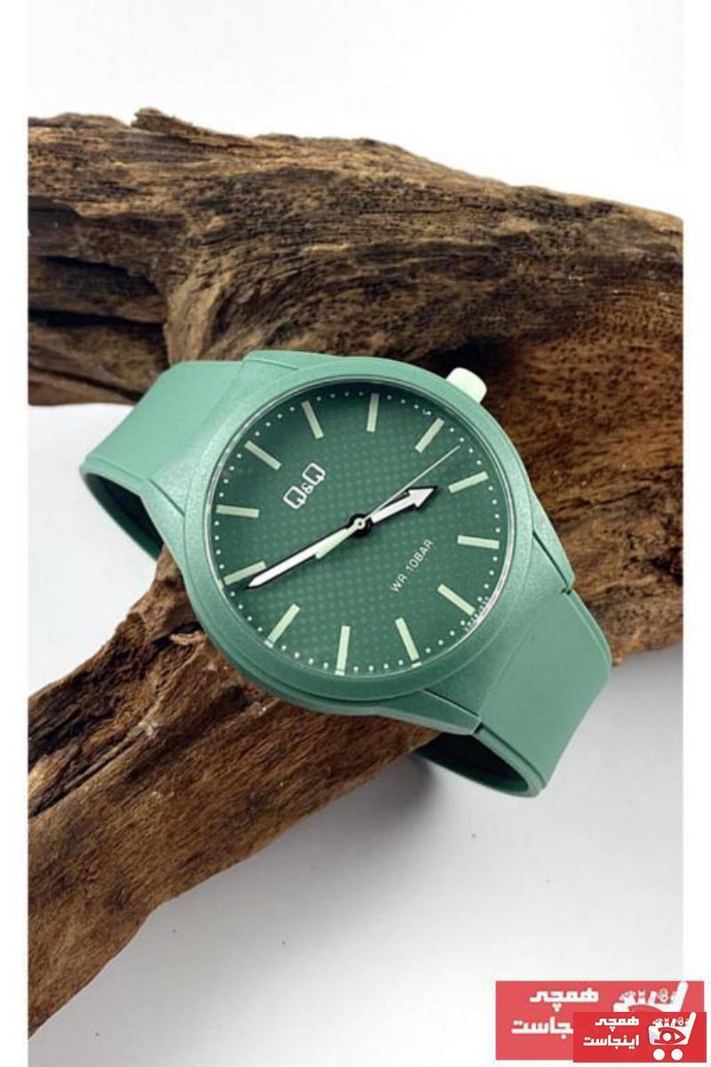 ساعت خفن برند Q&Q رنگ سبز کد ty66991224