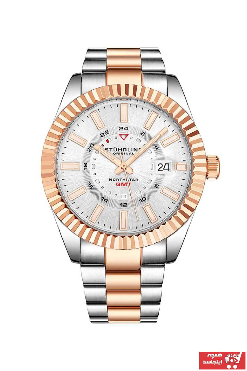 ساعت مردانه خاص برند Stührling رنگ متالیک کد ty7039878