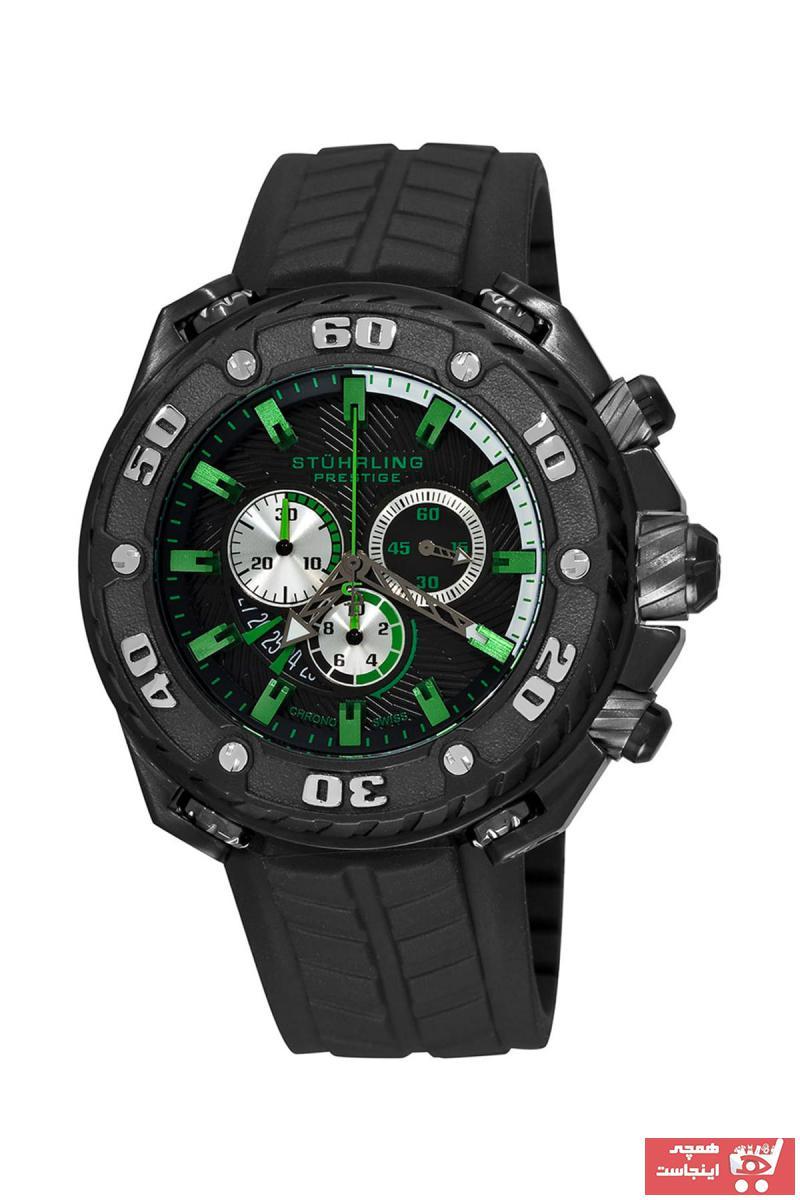 ساعت مردانه کوتاه برند Stührling رنگ مشکی کد ty7040023