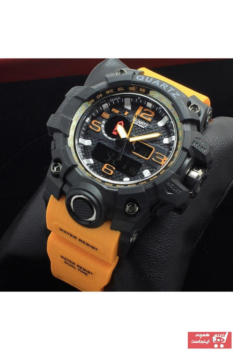 مدل ساعت مردانه برند Quamer رنگ نارنجی کد ty71639327
