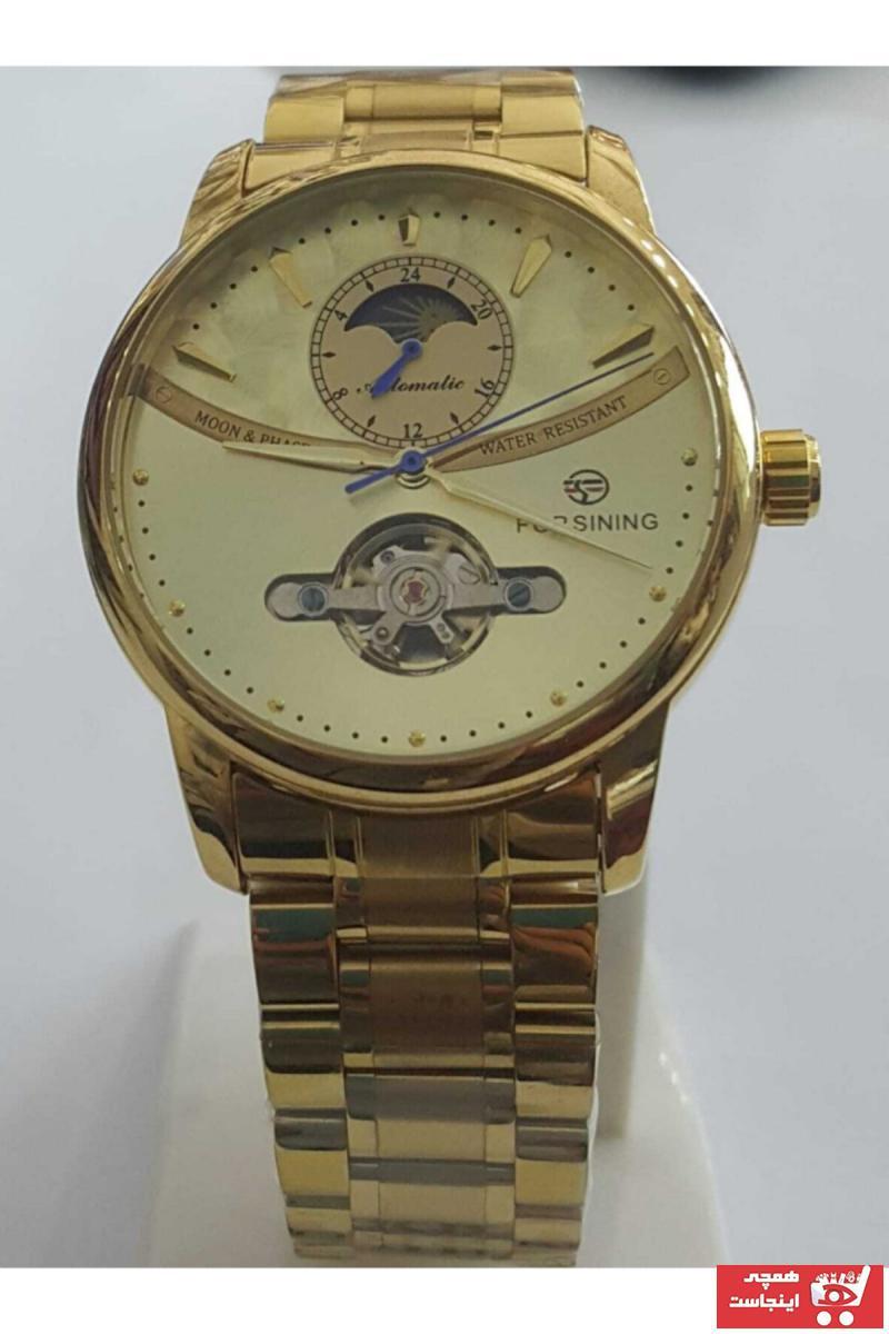 سفارش ساعت مچی مردانه  اصل برند Forsining رنگ طلایی ty77286050
