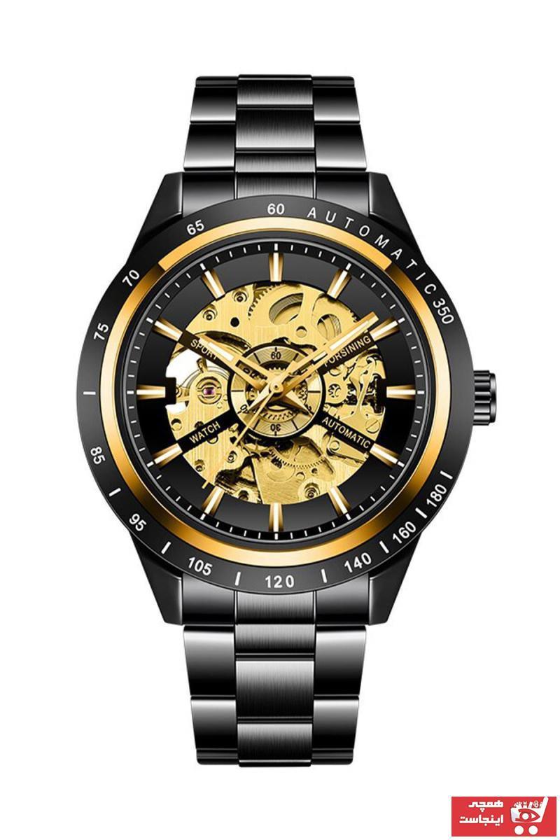 فروش ساعت مچی مردانه لوکس برند Forsining رنگ مشکی کد ty89239123