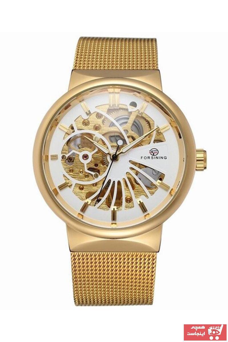 خرید ارزان ساعت مردانه  برند Forsining رنگ طلایی ty89387240
