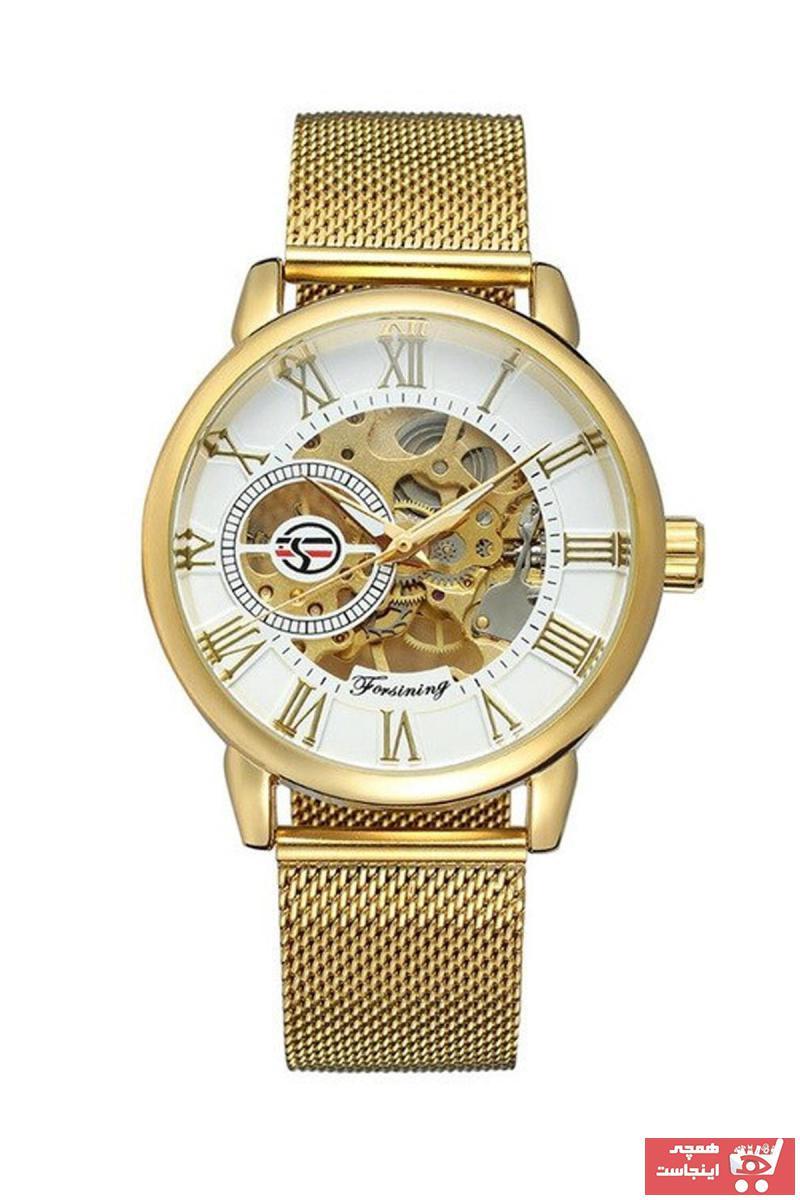فروش ساعت مردانه برند Forsining رنگ طلایی ty89423608