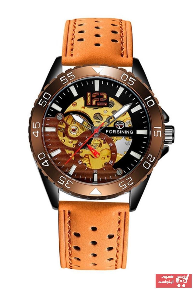 خرید پستی ساعت مردانه 2021 برند Forsining رنگ قهوه ای کد ty89466099