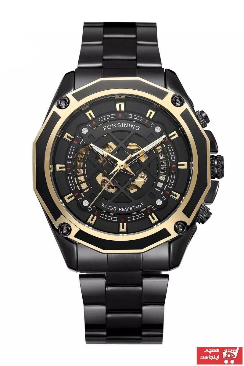 خرید انلاین ساعت مردانه  ارزان برند Forsining رنگ مشکی کد ty91862109