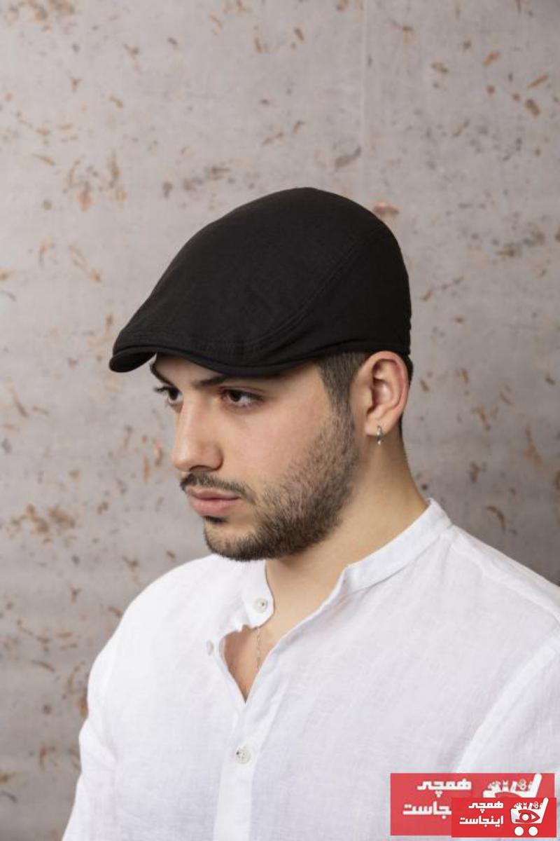 خرید پستی کلاه اورجینال مردانه برند ÜN ŞAPKA رنگ مشکی کد ty94049196