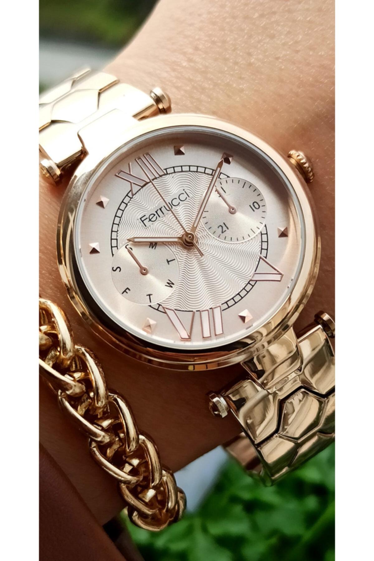 خرید ساعت مچی زنانه لوکس جدید برند Ferrucci رنگ صورتی ty101743823