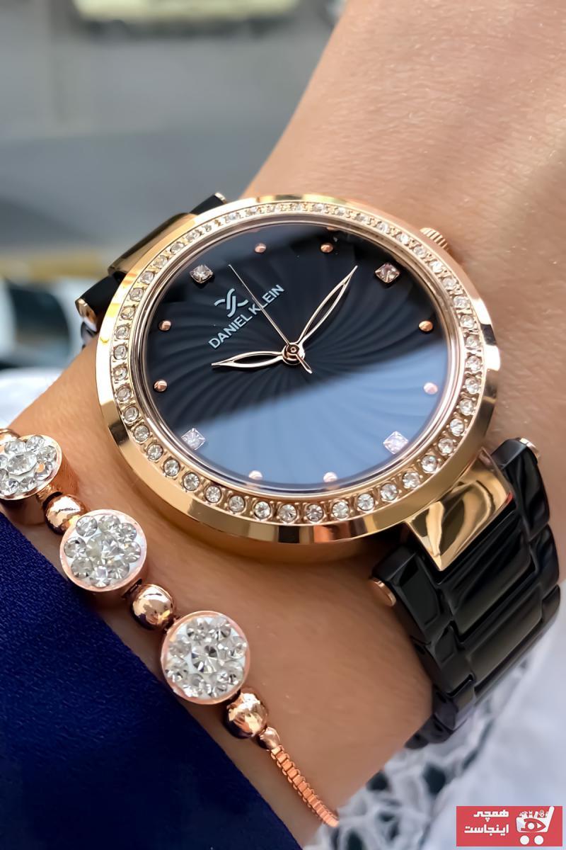 خرید آنلاین ساعت مچی زنانه لوکس برند Daniel Klein رنگ مشکی کد ty110748763
