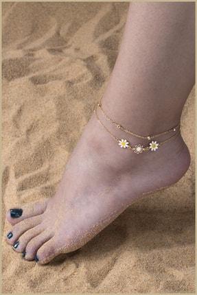 پابند زنانه ست برند Sortie Aksesuar رنگ طلایی ty111229157