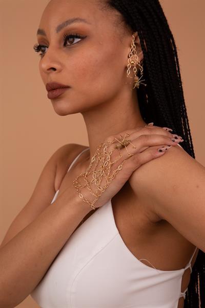 دستبند انگشتی زیبا LETA JEWELRY رنگ طلایی ty117979000