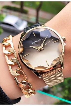 خرید پستی ساعت مچی زنانه 2021 برند Ferrucci رنگ مشکی کد ty118247380