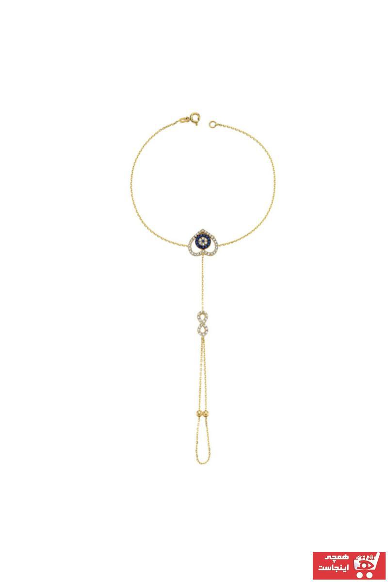 خرید اینترنتی دستبند انگشتی زنانه برند Milades رنگ زرد ty41244296