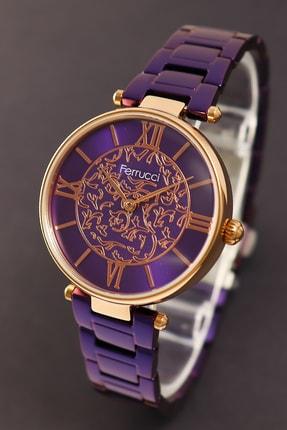خرید پستی ساعت مچی زنانه  ارزان برند Ferrucci رنگ بنفش کد ty46750486